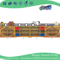 Preschool Cartoon Snoopy Wooden Kids Toys Cabinet Unit (M11-08701)