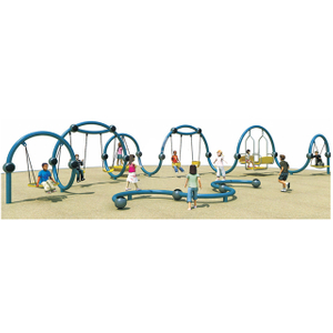 Outdoor Children Amusement Park Original Swing Playground (HHK-6401)