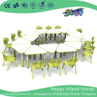 School Wooden Triangle Model Table for Toddler (HG-4802)