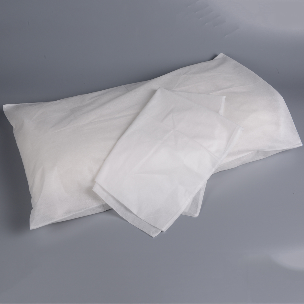 White disposable non woven PP pillow cover