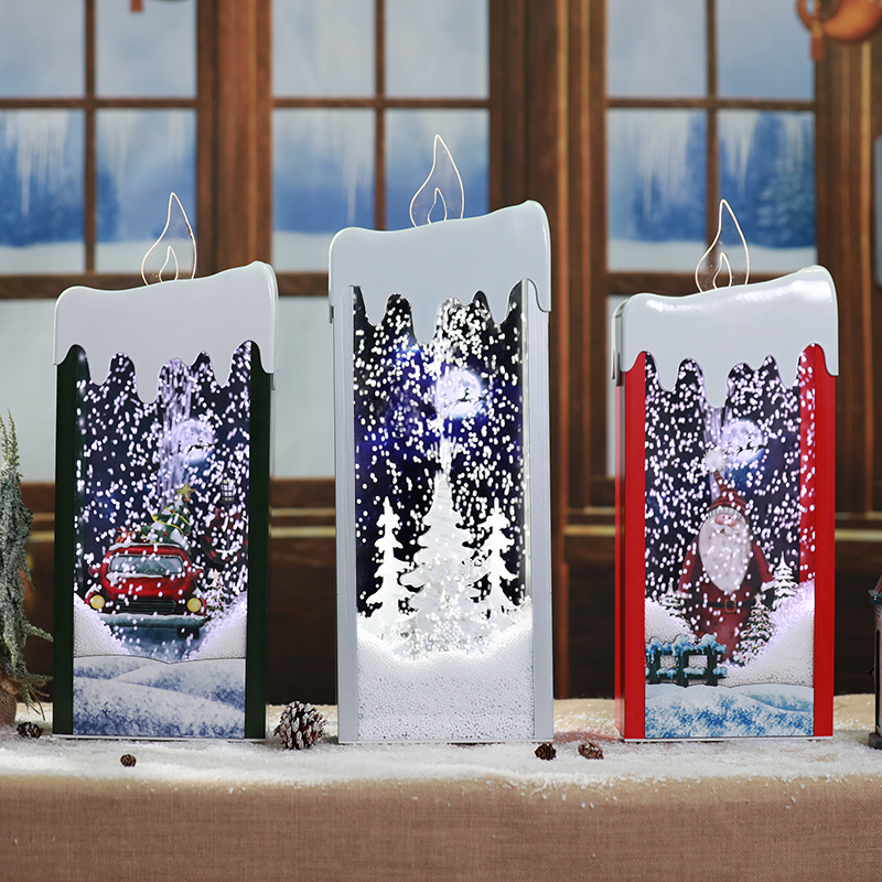 Party Decoration Christmas Snowman Santa Claus lantern