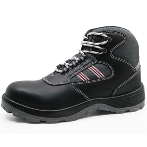 Slip resistant anti static leather botas de seguridad safety boots steel toe