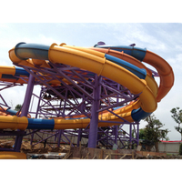 Outdoor Park Large 8 Lines Water Slide Playground