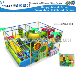 Indoor Naughty Castle With Plastic Slide Equipment For Sale(M11-C0015)
