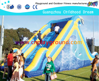 Outdoor Blue Children Inflatable Slide for Amusement Park
