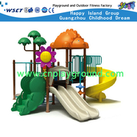 Outdoor Small Children Animal Galvanized Steel Playground with Plastic Slide Equipment(HD-2902)