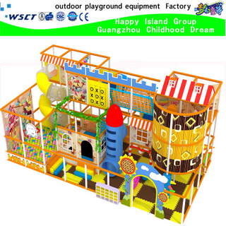 Indoor playground with Cartoon for kids castle and amusement park (H15-6004)