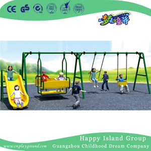 Amusement Park Outdoor Metal Swing Equipment With Slide (HJ-18702)