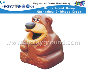 Outdoor Cartoon Animal FRP Trash Can (HD-18702)