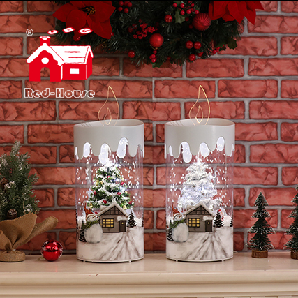New products gift box set snowing candle excellent presents idea for friends