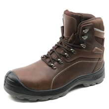 CE approved non slip genuine leather steel toe safety boots work