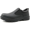 China black steel toe no lace executive safety shoes men