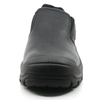 Black water proof leather steel toe industrial safety shoes without lace