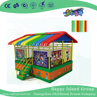 Discount Large Ball Pool House With Rainbow Roof And Cartoon Images(HF-19902)