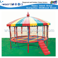 Amusement Park Kids Trampoline with Roof Equipment (M11-10402)