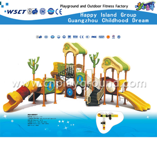Children Galvanized Steel Castle Playground Equipment with Slide(HA-08001)