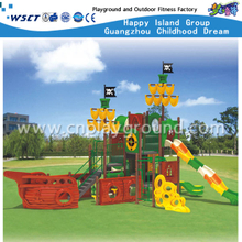 Hot Sale Middle 3 Layer High Children Slide Pirate ship Galvanized Steel Playground (HA-05401)