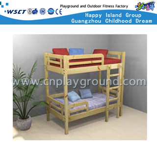 Eco Friendly Kids School Wooden Bunk Beds with Stairs for Kindergarten (HG-6508)