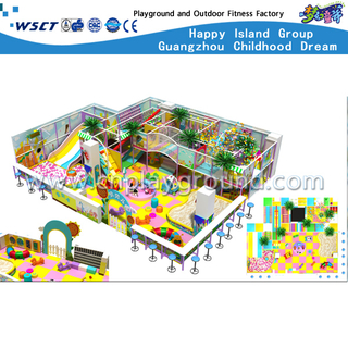 Middle Cartoon Indoor Playgrounds With Slide Equipment For Shopping Mall (H13-60022)