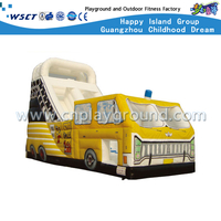 For School and Mall Yellow Car Inflatable Bouncy Slide (HD-9405)