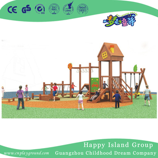 Outdoor Family Wooden Playground Equipment For Public (1908801)