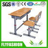 High quality wooden double desk and chairs for study room (SF-04D)