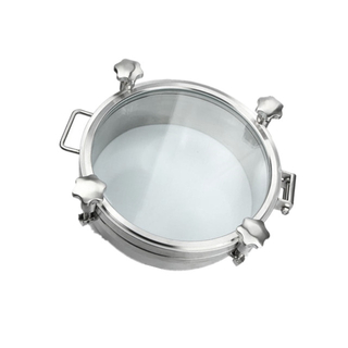 Sanitary 1bar Pressure Round Top Sight Glass Manway Cover