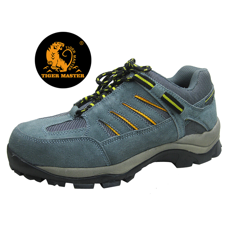 Oil Resistant Non Slip Suede Leather Steel Toe Cap Sport Type Safety Shoes Work
