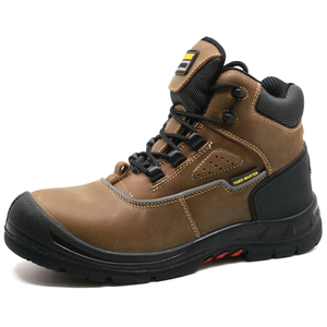 Tiger master brand oil slip resistant steel toe mining safety boots men