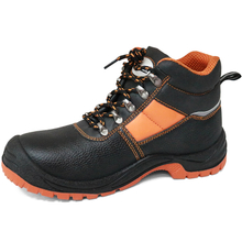 Cheap slip resistant pu upper steel toe industrial work shoes safety