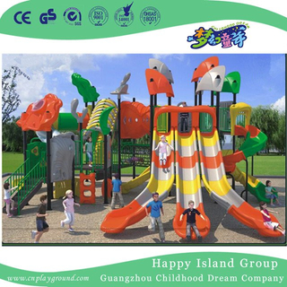 New Design Outdoor Children Combination Slides Playground