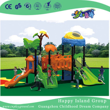 Outdoor Middle Children Double Slide Vegetable Playground Equipment with Butterfly (HG-9701)