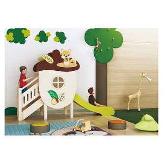 Kindergarten Indoor Wooden Slide Playground for Children Play (HJ-1701)