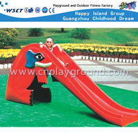 Toddler Outdoor Plastic Toys Elephant Straight Slide Playground (M11-09807)