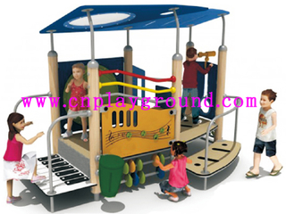 New Design Small Wooden Playground for Children (HD-5002)