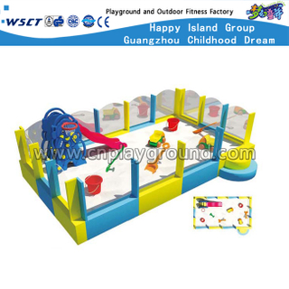 Popular Indoor Small Pirate Ship With Slide Soft Playground (HD-9002)