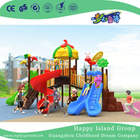 2018 New Outdoor Tree Leaves and Animal Roof Children Playground Equipment (H17-B7)
