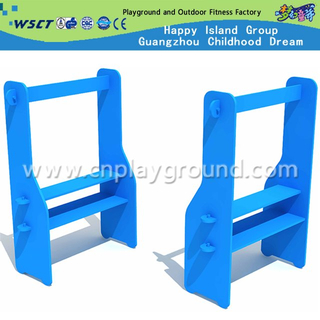 Mobile Module Wooden Kids Role Play Shelf for Kindergarten Furniture (HF-05801C)