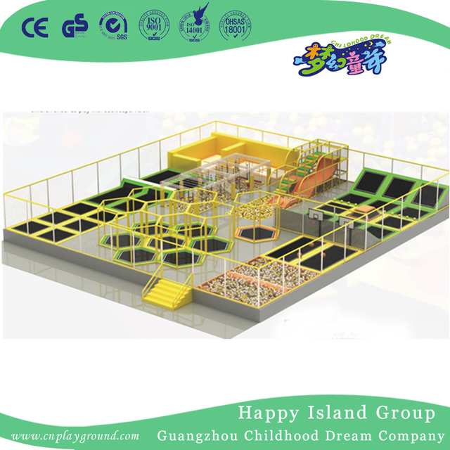 Large Indoor Commercial Children Play Trampoline Playground for Sale (1922401)