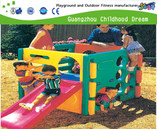 Small Outdoor Square Plastic Slide Playground On Stock (M11-09304)