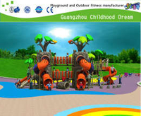 Hot Sale Outdoor Forest Theme Playground With Slide Equipment(H14-03256)