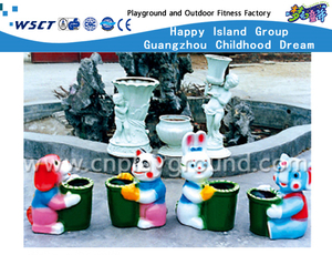 Outdoor Lovely Glass Fiber Reinforced Plastics Cartoon Animal Trash Can (HD-18713)