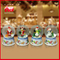 Printed Base Water Snow Globe Christmas Santa With LED Lights Blowing Snow