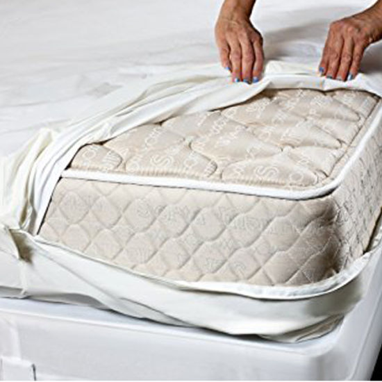 Breathable Mattress Bed Pad Zippered Bed Bug Hypoallergenic Protective Cover AT