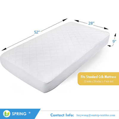Breathable Cover Protection From Dust Mites Bamboo Quilted Mattress Protector