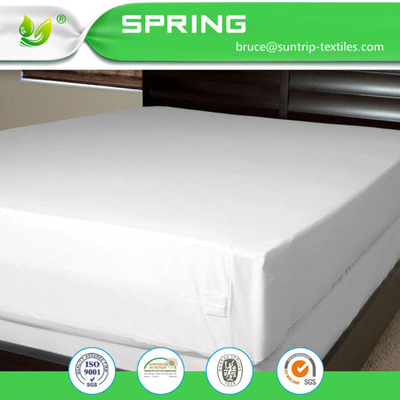 Unbleached Mattress Cover, Zippered for Complete Encasement, Deep Pocket Option