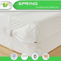100% Cotton Anti Allergy Treated Zipped Mattress Pillow Protector Quantity