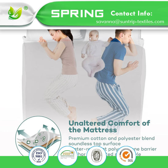 Hypoallergenic Soft Waterproof Bamboo Cotton Jersey Mattress Cover