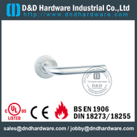 Stainless Steel 304 19mm Hollow Tube L shape Wood Door Handle with EN1906-DDTH010