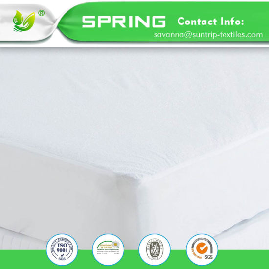 Bed Mattress Protector Waterproof Queen Size Breathable Waterproof Fitted Mattress Protector